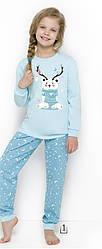 Пижама для девочек бирюзовая Taro 434Girls Pajamas Long Ada. Польша