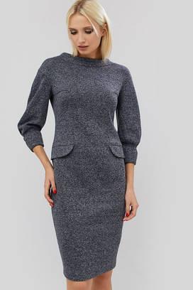 (XS, S, M) Класичне темно-сіре осіннє плаття Novisy