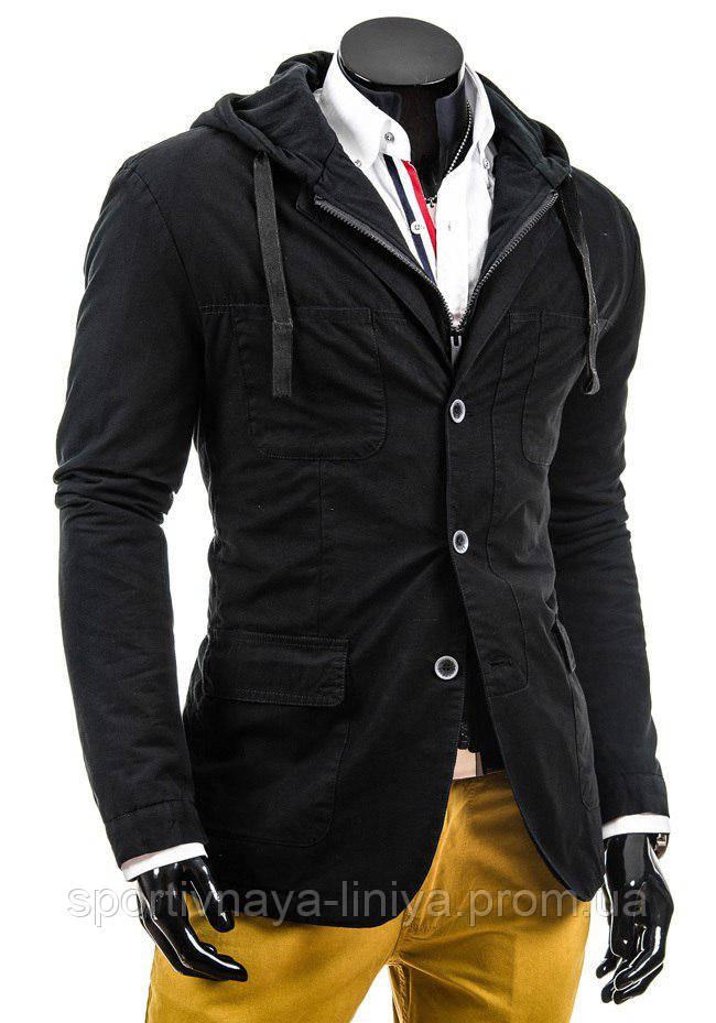 Мужская черная демисезонная куртка