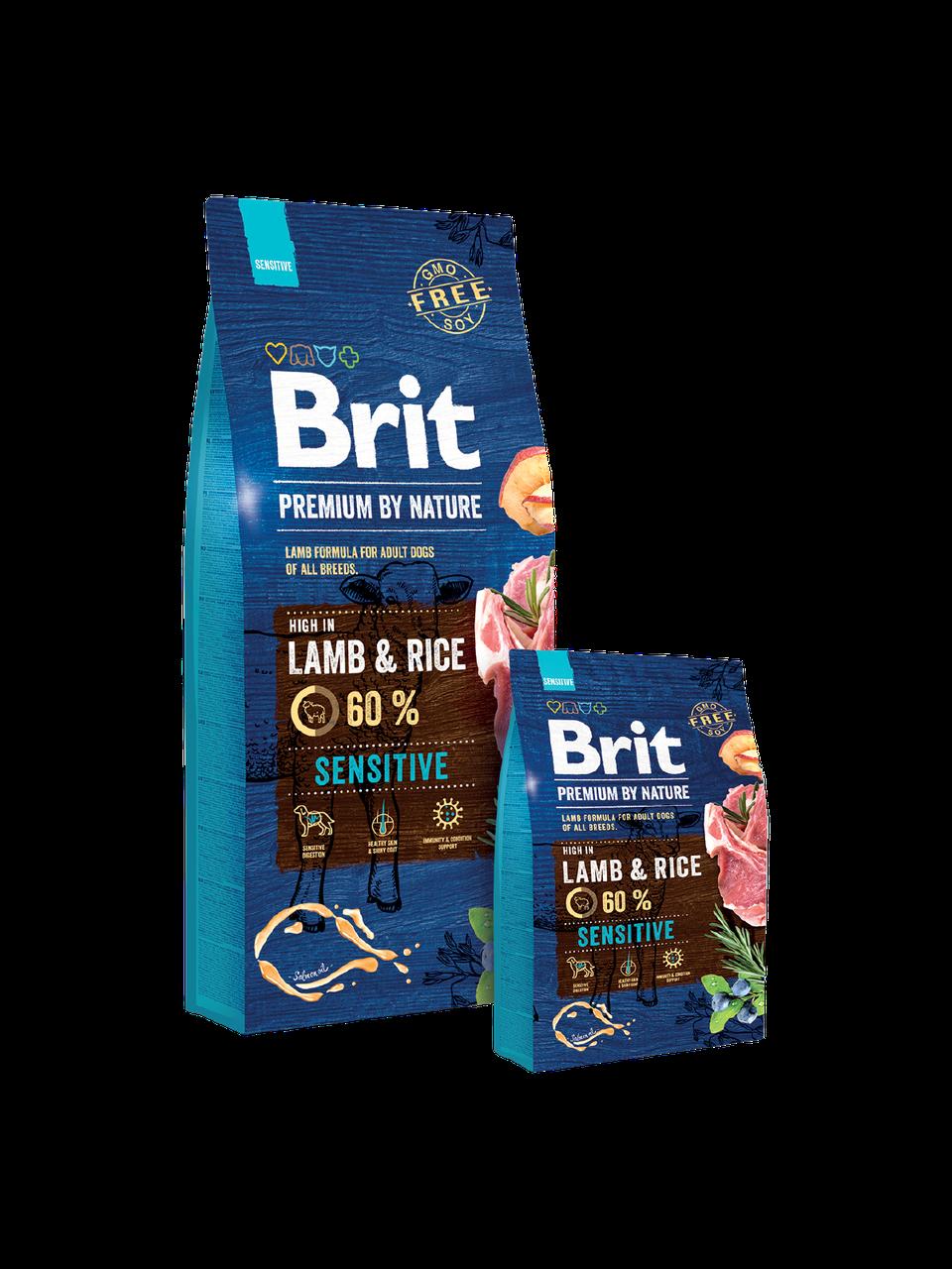 Brit Premium by Nature Sensitive LAMB - корм для собак с чувствительным пищеварением (ягненок/рис)