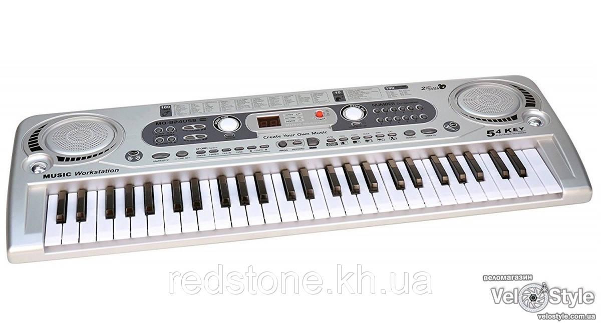 Детский синтезатор пианино MQ 020 FM радио + микрофон 54 клавиши