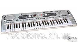 Дитячий синтезатор піаніно MQ 020 FM радіо + мікрофон 54 клавіші