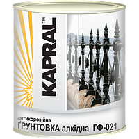 Kapral ГФ-021 - Універсальна антикорозійна алкідна грунтовка, 2,8 кг , червоно-коричнева