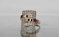 Кольцо с золотой накладкой