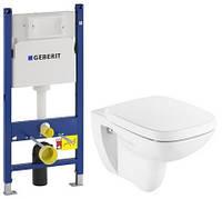 Комплект: DEBBA Rimless унитаз подвесной , сиденье твердое slow-closing, Geberit Duofix 458.126.00.1