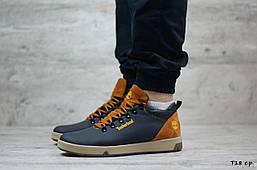 Мужские кожаные зимние ботинки Timberland (Реплика) (Код: T18 с.р   ) ►Размеры [40,41,42,43,44,45]