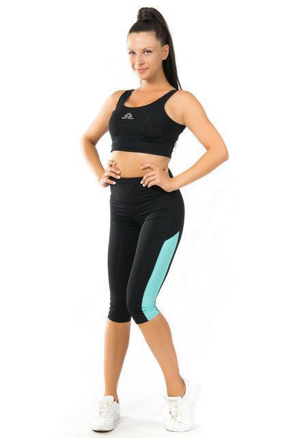 Спортивный комплект топ и бриджи для тренировок (40,42,44,46,48,50,52)  женская одежда для спорта