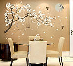 Самоклеющаяся  наклейка  на стену  Ветка дерева с птицами (187х128см), фото 5