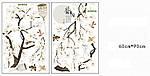 Самоклеющаяся  наклейка  на стену  Ветка дерева с птицами (187х128см), фото 4