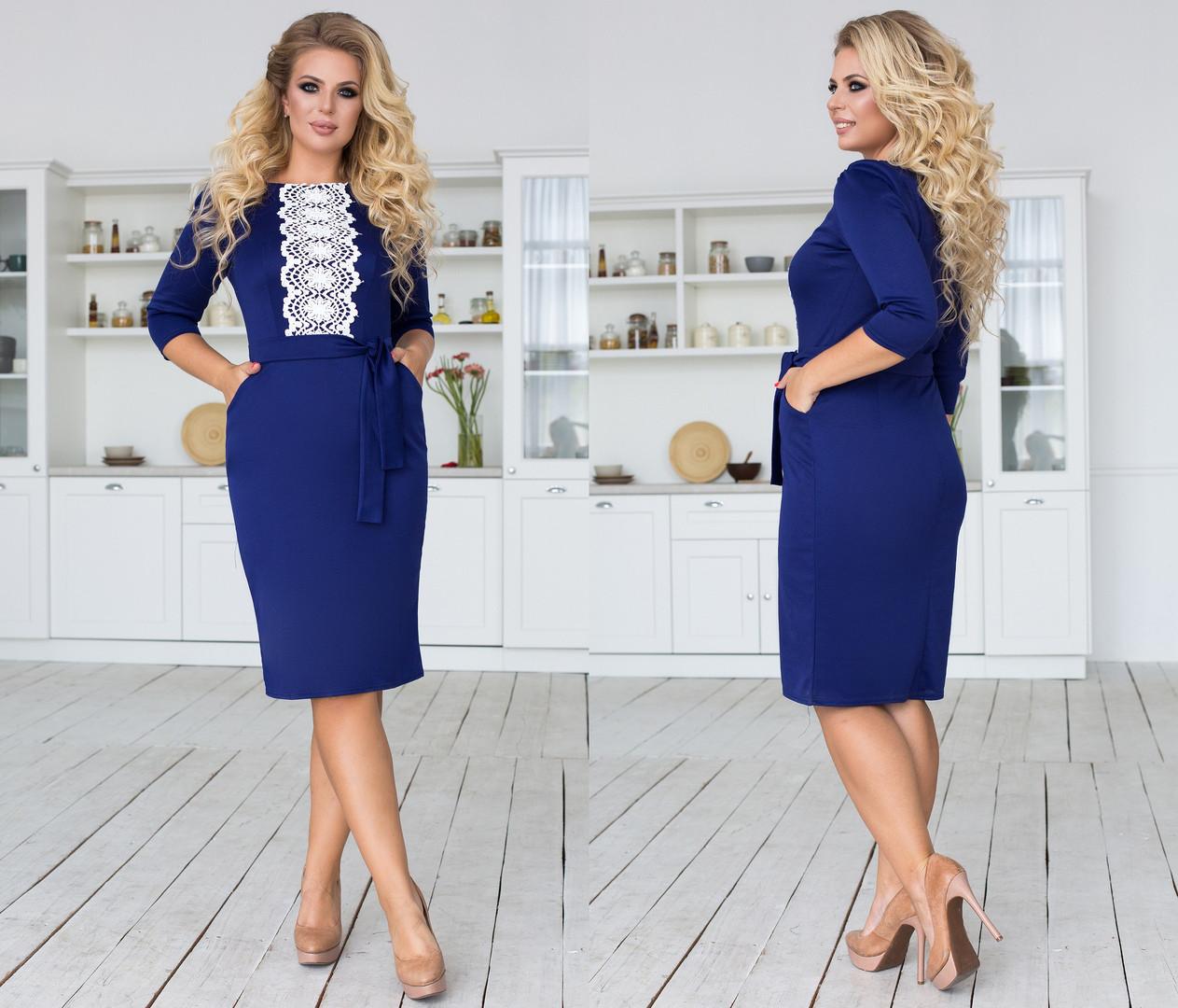 Красивое женское платье большого размера +цвета