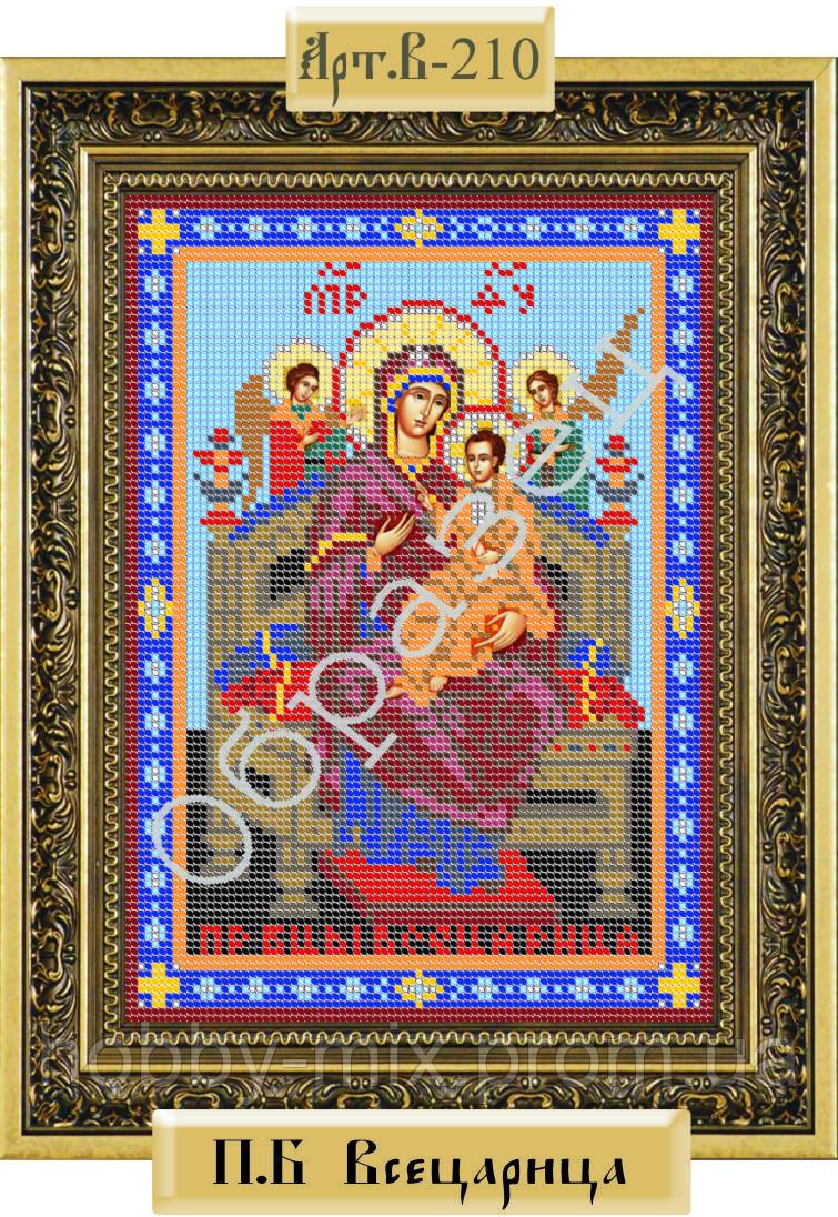 """Схема для вышивки бисером """"Пресвятая Богородица """"Всецарица"""""""""""