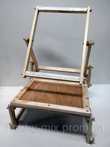 Станок диванный для вышивки со столиком (вертикальный), А3, фото 2