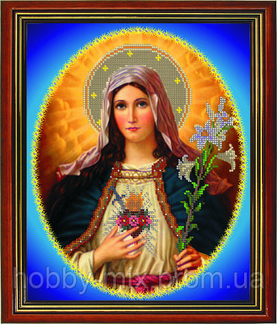 """Схема для вышивки бисером """"Дева Мария"""", фото 2"""