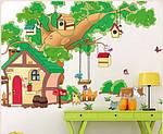 Самоклеющаяся  наклейка  на стену  Домик и дерево (184х65см), фото 2