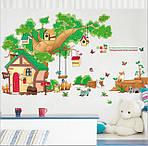 Самоклеющаяся  наклейка  на стену  Домик и дерево (184х65см), фото 5