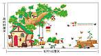 Самоклеющаяся  наклейка  на стену  Домик и дерево (184х65см), фото 3