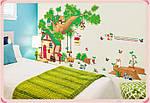 Самоклеющаяся  наклейка  на стену  Домик и дерево (184х65см), фото 6