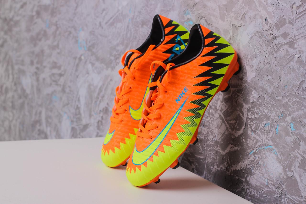 53a6a7dc Бутсы Nike Mercurial CR7 (Оранжевые) 1006(реплика): продажа, цена в ...