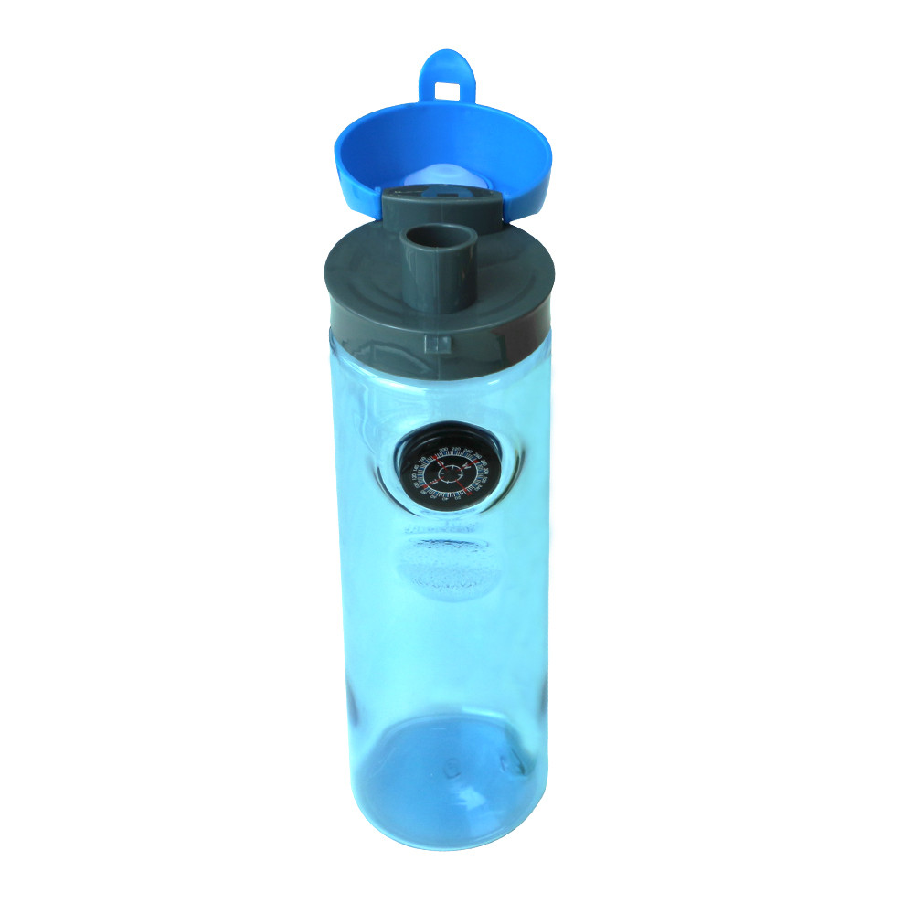 Спортивная бутылка для воды 700 мл. Бутылка с компасом