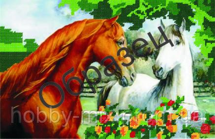 """Схема для частичной вышивки """"Пара лошадей"""", фото 2"""