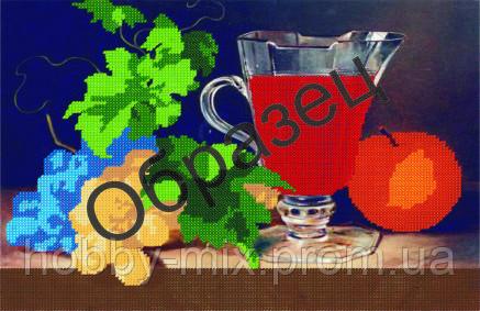 """Схема для частичной вышивки """"Графин с вином"""", фото 2"""