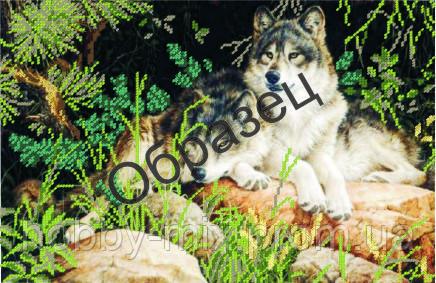 """Схема для частичной вышивки """"Пара волков"""", фото 2"""