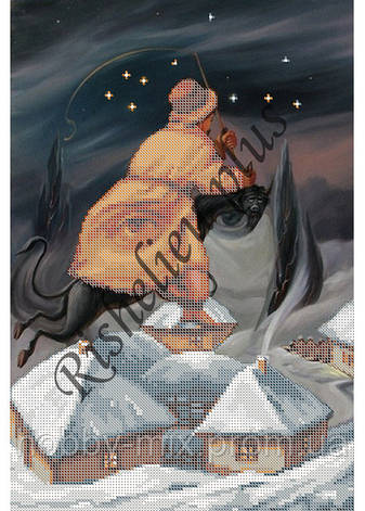 """Схема для частичной вышивки """"Гоголь"""", фото 2"""