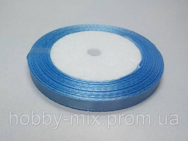 Лента атлас 6 мм, голубой васильковый, фото 2
