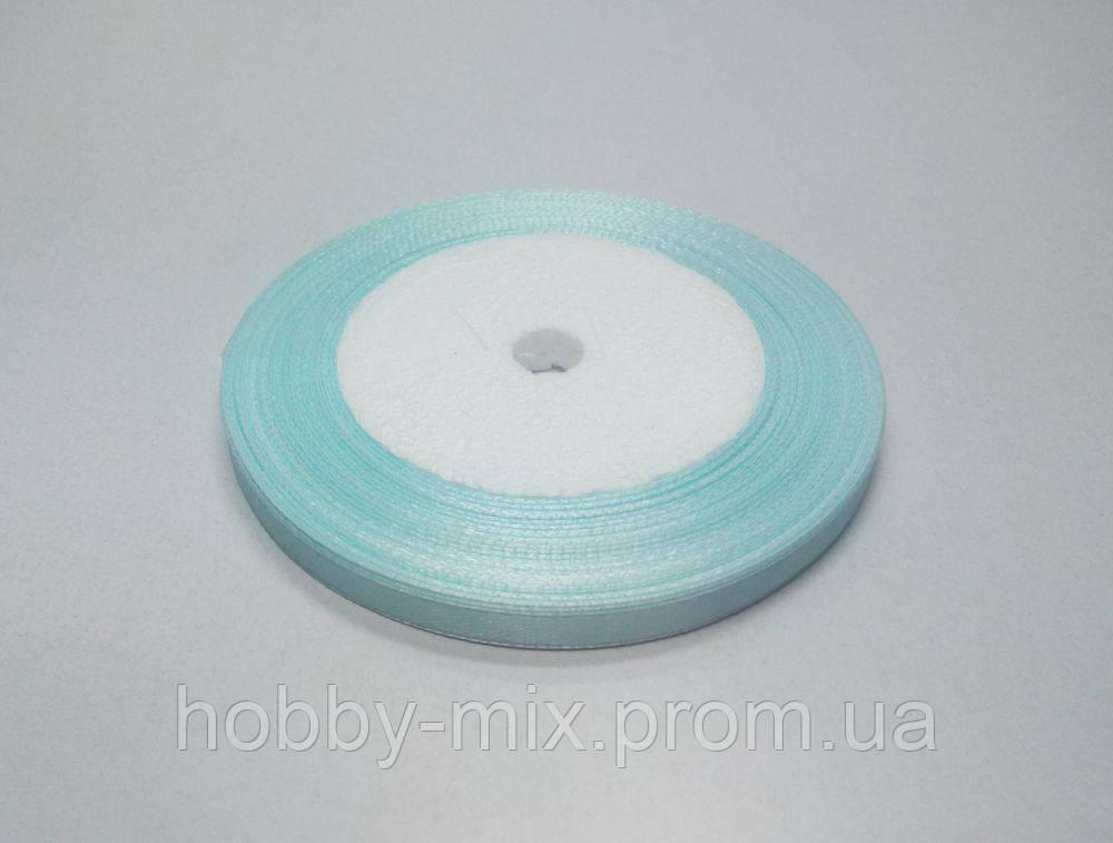 Лента атлас 6 мм, светло-голубой