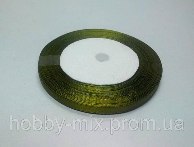 Лента атлас 6 мм, оливковый насыщенный, фото 2