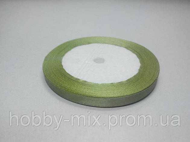Лента атлас 6 мм, светло-оливковый, фото 2
