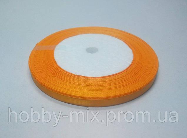 Лента атлас 6 мм, оранжевый подсолнух, фото 2