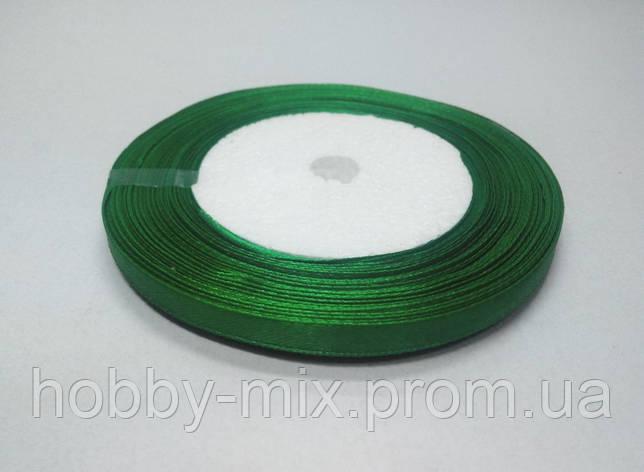 Лента атлас 6 мм, зеленый, фото 2