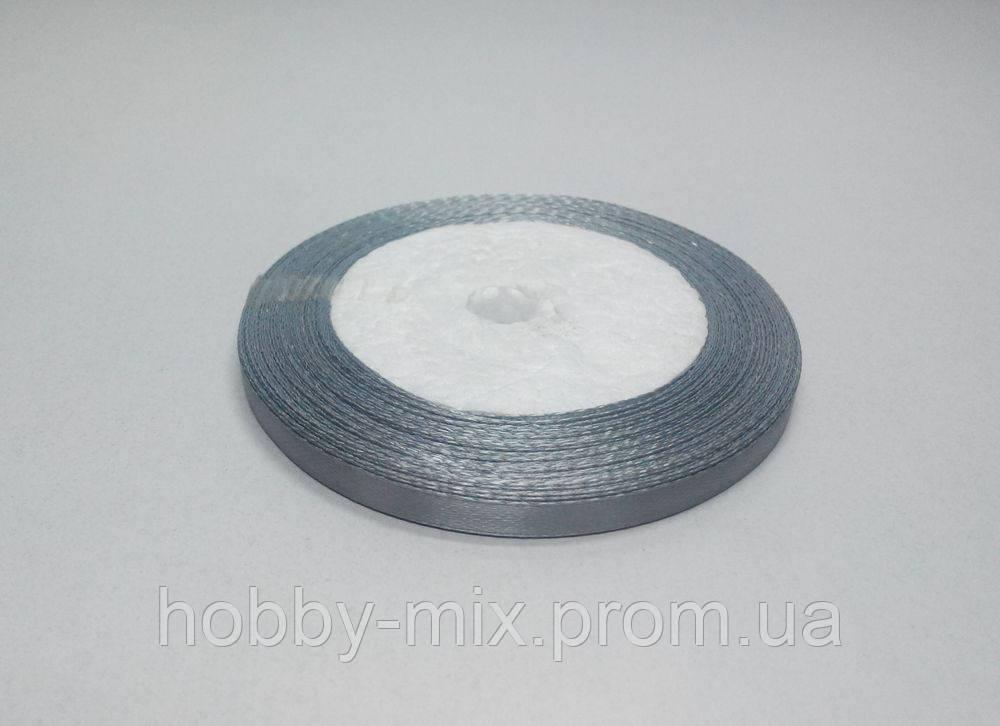 Лента атлас 6 мм, серый
