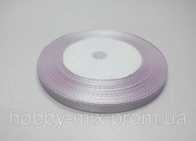 Лента атлас 6 мм, бледно-сиреневый, фото 2