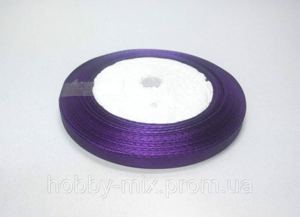 Лента атлас 6 мм, фиолетовый