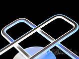 Припотолочная современная светодиодная люстра MX6240/1S WH B COL , фото 8
