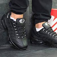 Мужские кроссовки Nike 95 черные 6119 , фото 1