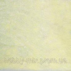 Фетр 1 мм, (100х85 см) бледно-желтый