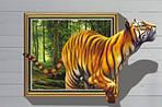 Самоклеюча 3D наклейка на стіну Тигр (100х70см), фото 2