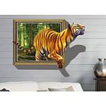 Самоклеюча 3D наклейка на стіну Тигр (100х70см), фото 3
