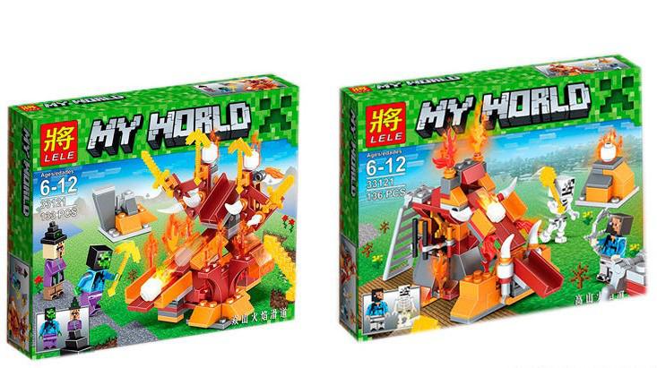Конструктор Lele My World 33121 Осадное орудие  2 вида, в коробке