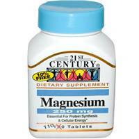Магний 250 мг 110 таб   здоровое сердце  антистресс 21-й век USA