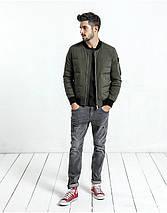 Демисезонная мужская куртка бомбер хаки, фото 3