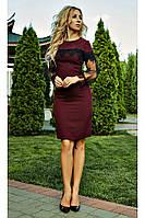 """Нарядное женское платье """"Барбара"""" (марсала), фото 1"""