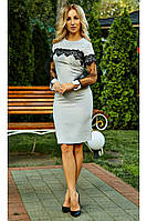 """Нарядное женское платье """"Барбара"""" (светло-серое), фото 1"""