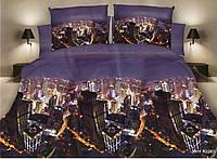 """3D Двуспальное постельное белье """"Ranforce"""" Нью-Йорк"""