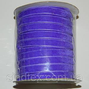 7 Бархатная лента декоративная (1см.) моток 46м., фиолетовая