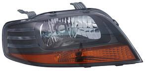 Фара передняя для Chevrolet Aveo '05-06 левая (DEPO) под электрокорректор темный отражатель