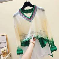 Стильный свитер градиент, фото 1